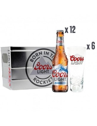 BOX COORS LIGHT 12 BIERES...